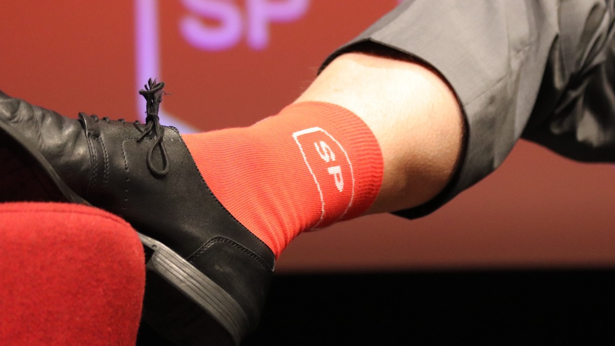 Rote SP-Socken