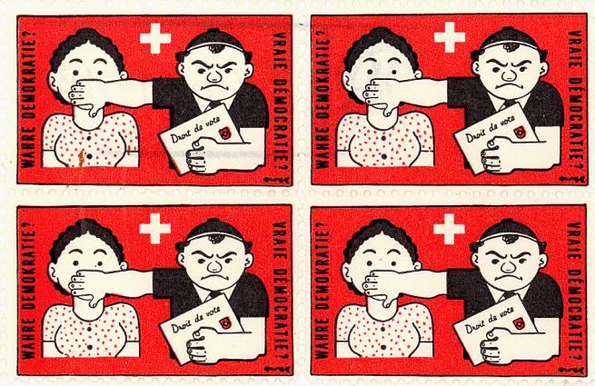 Briefmarke für die Einführung des Frauenstimmrechts 1929